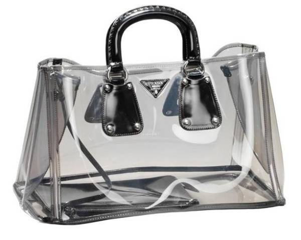 prada bag Chic Transparent HandBag from Prada is a Showstopper!