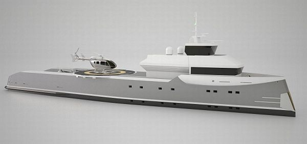 Independence yacht with helipad