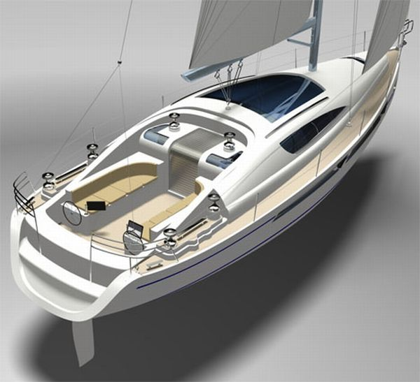 Yacht by Andrew Sailing Yacht that is Visually Appealing and Dynamic in Performance