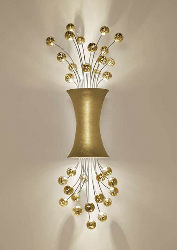 Boyd Lighting Unveils 24ct Yellow Gold Leaf Finish Sconce Lighting
