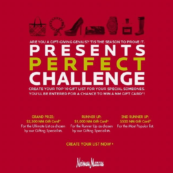 neiman marcus Presents Perfect Challenge