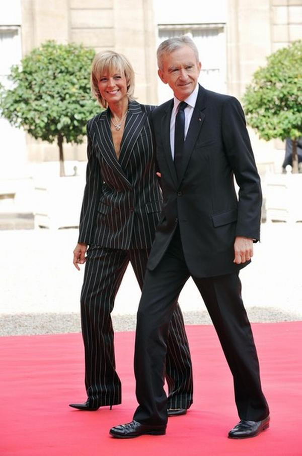 French CEO of LVMH Bernard Arnault and h