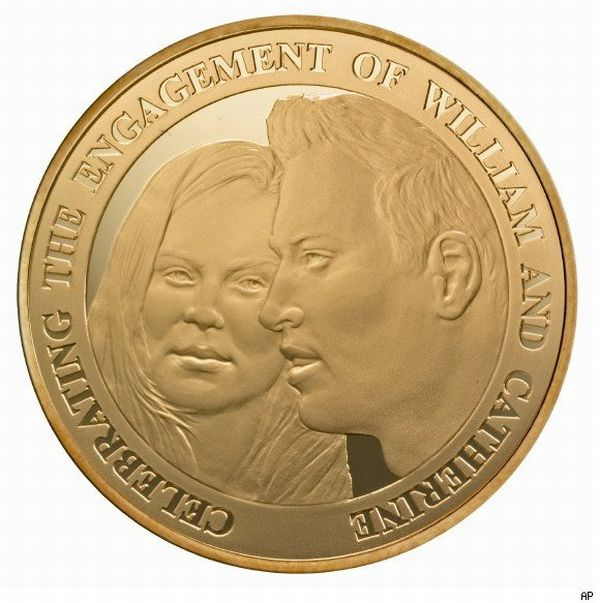 Commemorative Coin for Prince William's Engagement