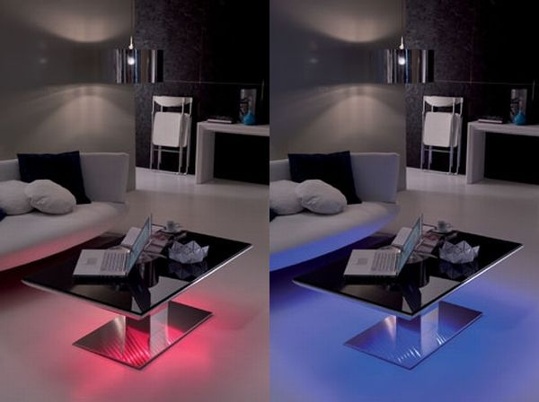 LED lighted Tables by Ozzio