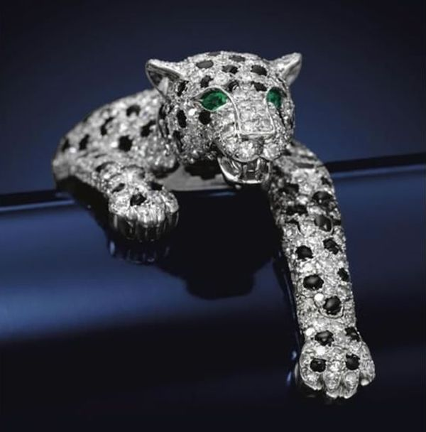 Onyx-and-Diamond-Panther-bracelet