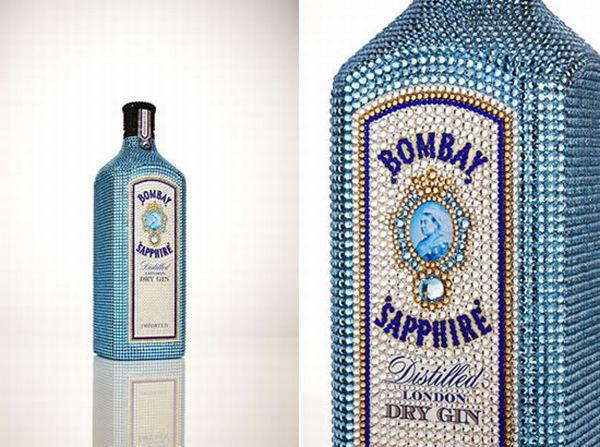 Swarovski Studded Bombay Sapphire Bottle