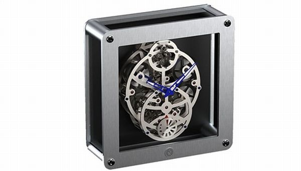 L'Audacieuse Table skeleton Clock