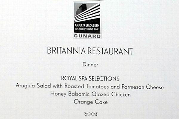 britannia restaurant menu