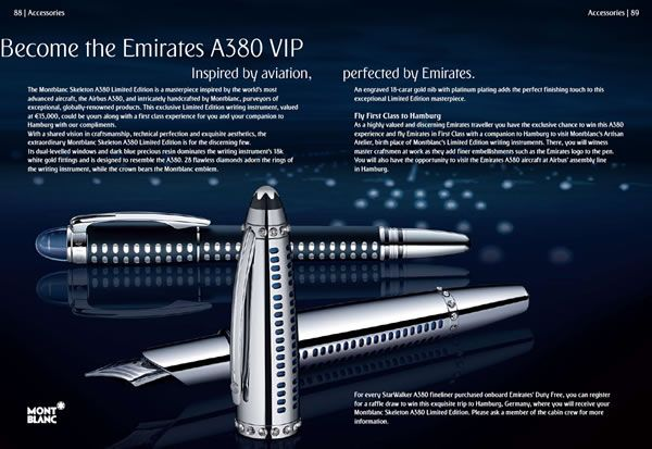 emirates montblanc vip offer