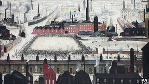 football match by LS Lowry