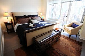 Master bedroom at Mima2 New Rental Tower in Manhattan Expects People to Pay Top Price for Amenities like Dog Spa