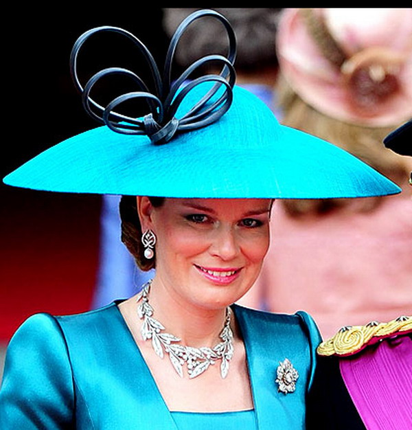 princess mathilde 18 Head Turning Hats At The Royal Wedding
