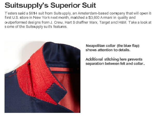 suitsupply suit Suitsupply Creates Cheaper Suits Matching Armani in Quality
