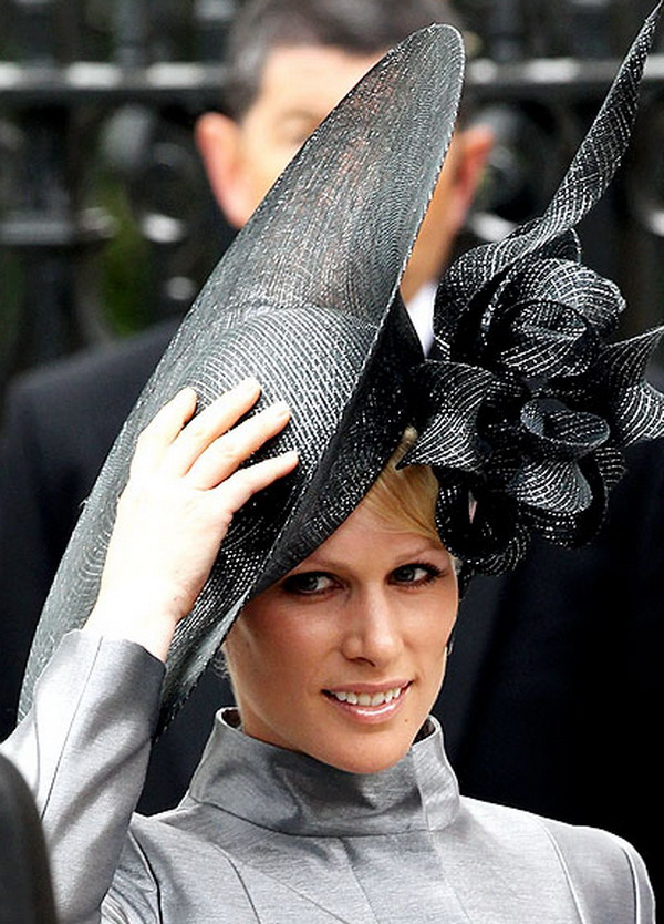 zara philips 18 Head Turning Hats At The Royal Wedding