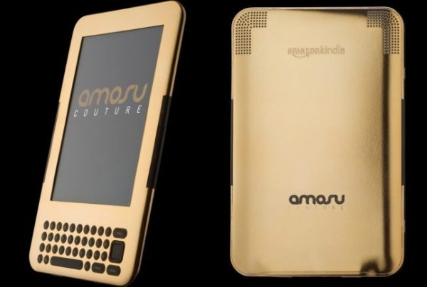amosu gold kindle Alexander Amosu Dabs the Amazon Kindle with 24 Carat Gold