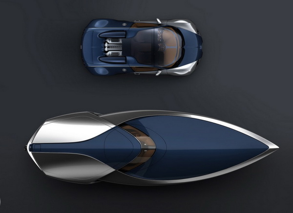 bugatti speedboat concept design