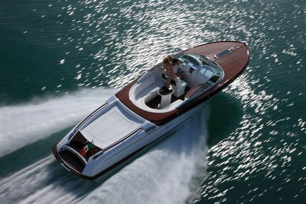 Details: Luxury yachts rarely get as stylish as the 33-foot Aqua Riva by .