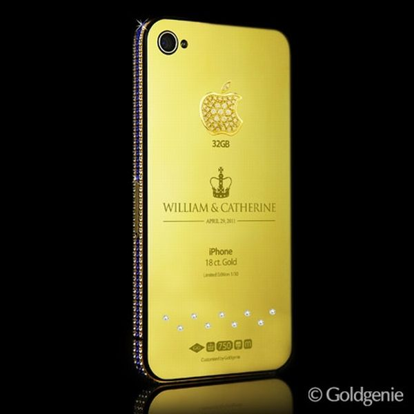 Royal iPhone 4 Gold with Diamond and Sapphire