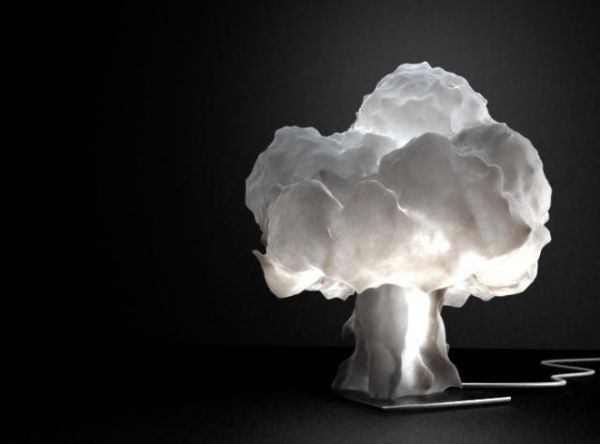 mushroom cloud shaped lamp