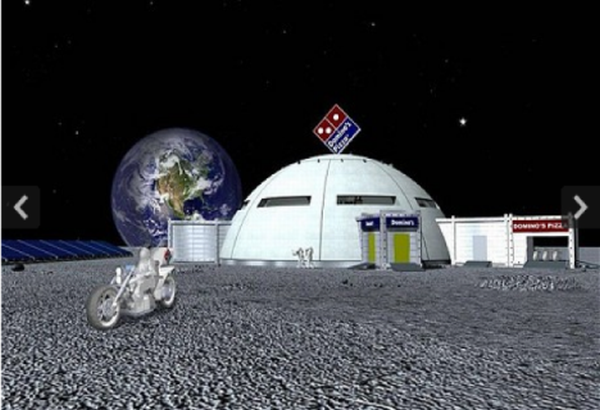 Domino's Store on Moon