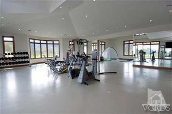 Fully equiped gym for the tennis maestro