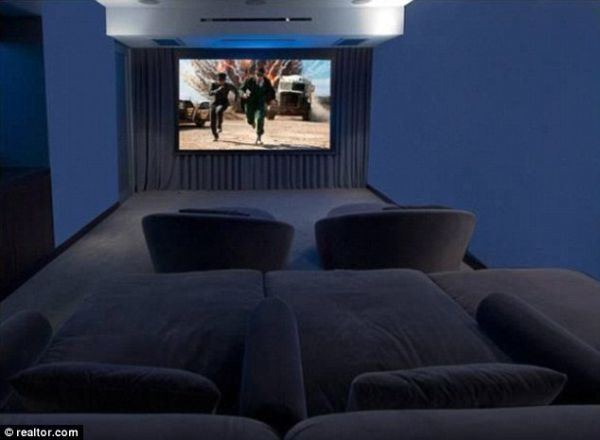 Screening Room with Luxurious Seating