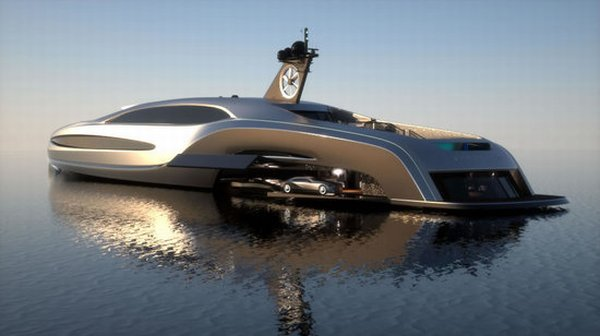 Gray Design Brings An All New Luxury Packed Sovereign Superyacht With An On Board Limousine
