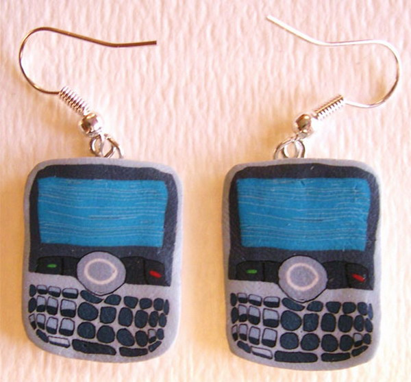 blackberry earrings1 Raise Your Fun Quotient With Cool Geeky Jewelry