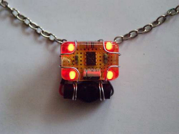 led circuit pendant Raise Your Fun Quotient With Cool Geeky Jewelry