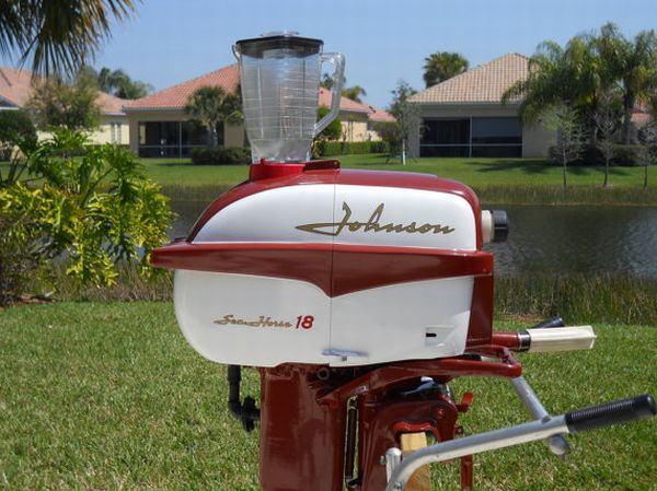 outboard motor powered drink blender