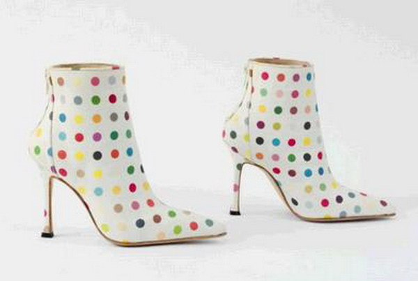 Manolo Blahnik by Damien Hirst. Boots, 2002