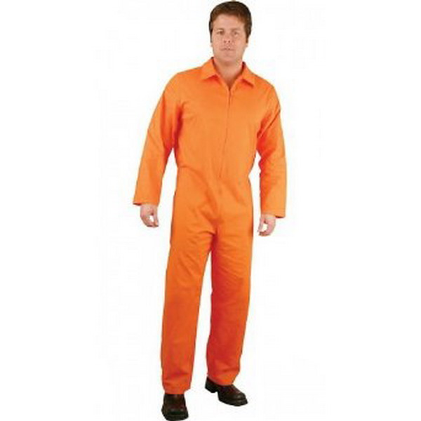 Luxury Orange Jumpsuit Prisoner Mens Plus Size Costume  THEMES