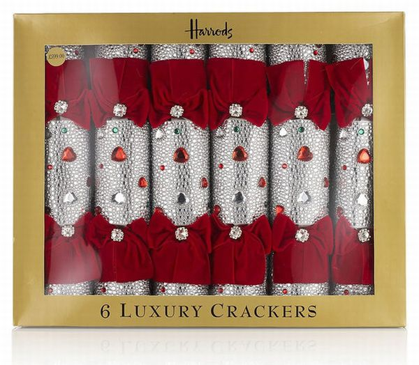 Harrods Silver Bling Crackers