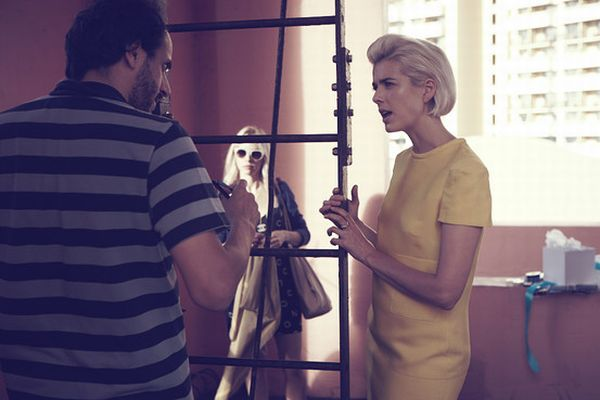 Luca Guadagnino with supermodel Agyness Deyn