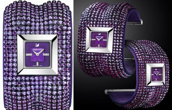 Swarovski's Elis Bangle Amethyst watch