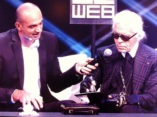 Karl Lagerfeld at Launch of Le Web