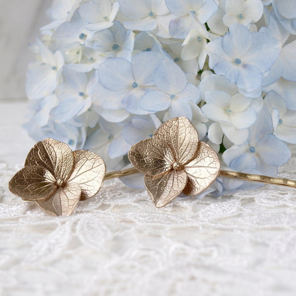 hydrangea bobby pins Gift Guide: Green Gifts For Her