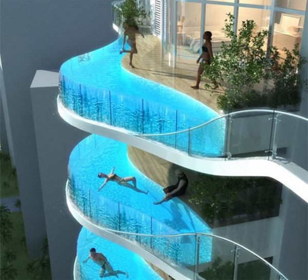 Swimming Pool in balconies