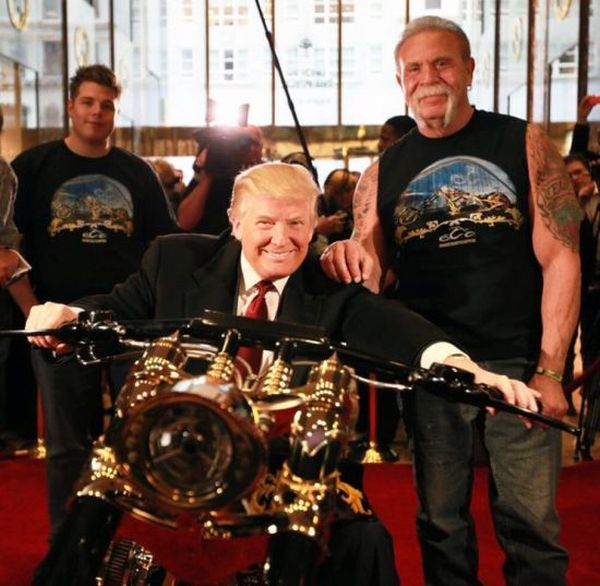 donald trump customised gold chopper