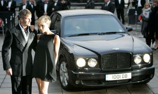 Beckhams with One of the Cars