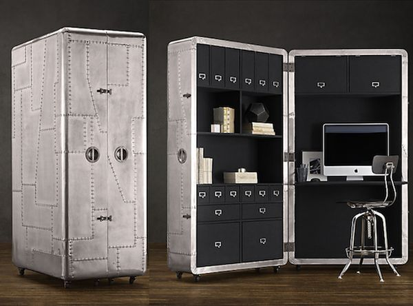 restoration hardware creates the foldable and moveable