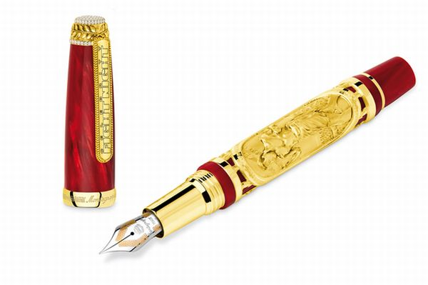 montegrappa creates diamond studded gold fountain pen for. Black Bedroom Furniture Sets. Home Design Ideas