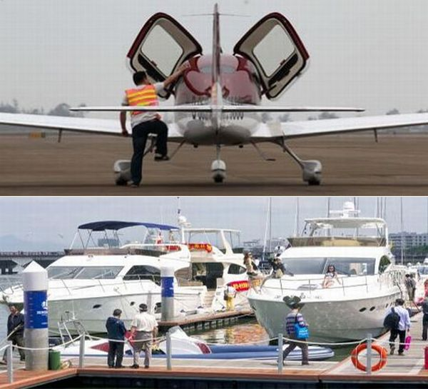 Private jets and Yachts in China