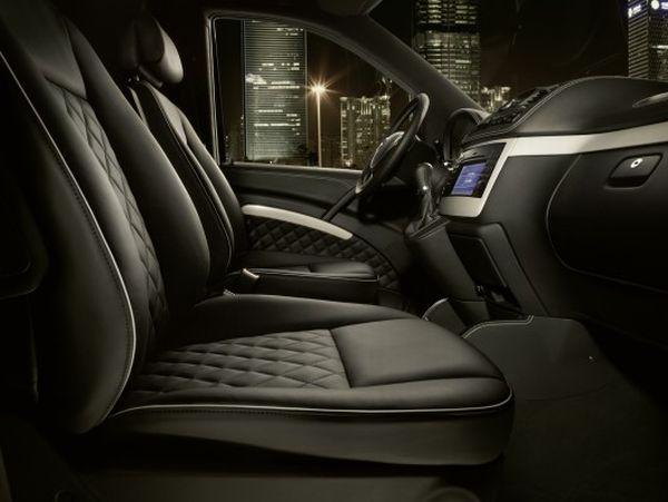 The Mercedes Benz Viano Vision Diamond Driving compartment