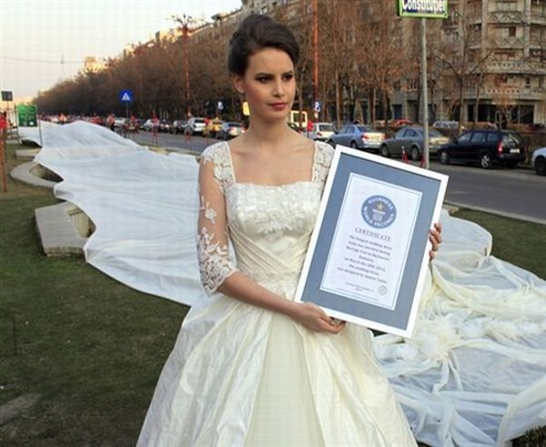 Wedding Dress with the longest train