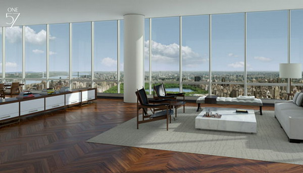 Super expensive manhattan property the one57 top floor for Most expensive penthouse in nyc