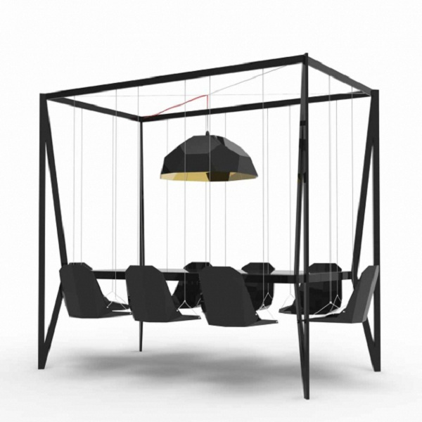 Black Swing Table