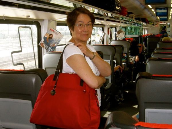 Helen Lo with her bag
