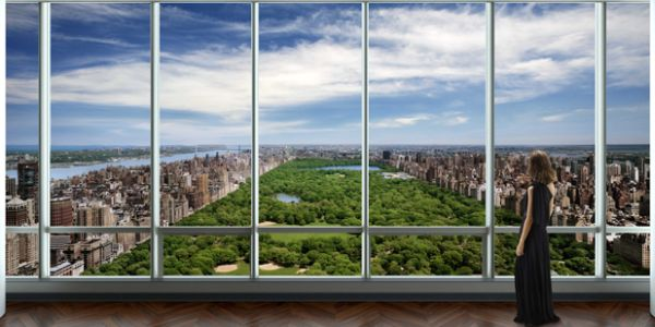A rendering of One57's penthouse