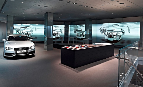 Audi city Presenting the 'Audi City' Digital Car Showroom in London